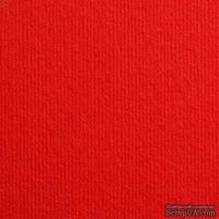 Дизайнерский картон с фактурой вельвета Nettuno rosso fuoco, 30х30 см, красный алый, 280 г/м2, 1 шт
