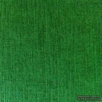 Дизайнерский картон с фактурой льна Sirio tela foglia, 30х30,  зеленый темный,  290 г/м2