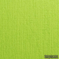 Дизайнерский картон с фактурой льна Sirio tela lime, 290 г/м2, 30х30,салатовый фисташковый