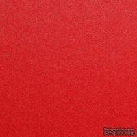 Дизайнерский картон с металлизированным эффектом Stardream jupiter, 30х30, красный, 285 г/м2