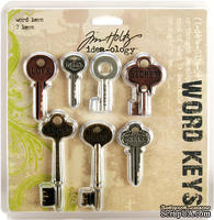 Набор металлических украшений-ключиков Tim Holtz - Word Keys