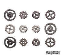 Набор металлических украшений-шестеренок Tim Holtz Ideaology - Mini Gears