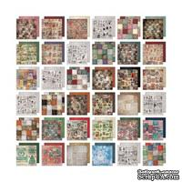 Набор бумаги от Tim Holtz Collage Mini Stash - Seasonal, 20x20 cм
