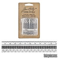 Бумажные скотчи Tim Holtz - Ideaology - Tissue Tape - Laboratorie, 4 штуки