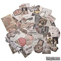 Высечки Tim Holtz - Ideaology - Ephemera Pack - Thrift Shop, 54 штуки