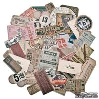 Высечки Tim Holtz - Ideaology - Ephemera Pack - Expedition, 63 штуки