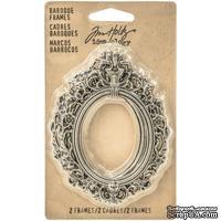 Набор металлических украшений-рамочек -  Advantus - Tim Holtz Ideaology - Baroque Frames, 2 шт.