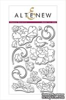 Штампы от Altenew - Peony Scrolls Stamp Set - Stamp Only