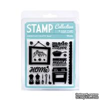 Набор акриловых штампов  American Crafts - Acrylic Stamps - Washer - Small