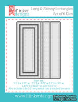 Нож для вырубки от Lil' Inker Designs - Stitched Mats: Long & Skinny Rectangles