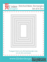 Ножи для вырубки от Lil' Inker Designs - Stitched Mats: Rectangles