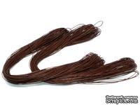 Вощеный шнур, 1 мм, цвет коричневый, 5 метров
