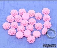 """Кабошон """"Цветок"""", цвет розовый, размер 16х8 мм, 1 шт."""