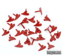 """Брадсы  """"Сердце"""", 12x11мм, цвет красный, 20 шт."""