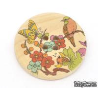 Деревянная пуговица Nature Pattern B14640, диаметр 30 мм, 20 штук