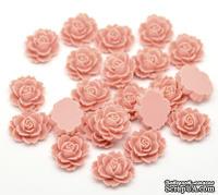 """Кабошон """"Цветок"""", цвет розовый, размер 18х14 мм, 1 шт."""