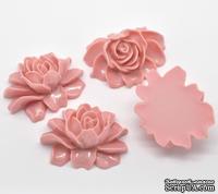 """Кабошон """"Цветок"""", цвет розовый, размер 46х36 мм, 1 шт."""