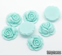 """Кабошон """"Цветок"""", цвет голубой, размер 27х27 мм, 1 шт."""