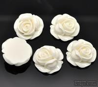 """Кабошон """"Цветок"""", цвет бежевый, размер 27х27 мм, 1 шт."""