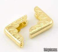 Уголки для альбомов,16*16*22мм, цвет золото, 4 шт., толщина 4 мм - ScrapUA.com