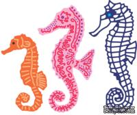 Лезвия Seahorse Family от Cheery Lynn Designs, 3 шт.