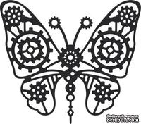 Нож для вырубки от Cheery Lynn Designs - Gears Butterfly (Steampunk Series)