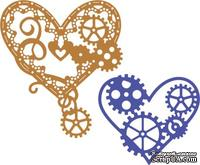 Нож для вырубки от Cheery Lynn Designs - Hearts 'n Gears (Set of 2) (Steampunk Series)