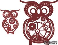 Нож для вырубки от Cheery Lynn Designs - Owls with Gears (Set of 2) (Steampunk Series)