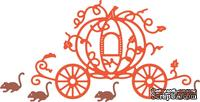 Нож для вырубки от Cheery Lynn Designs - Pumpkin Carriage with Mice