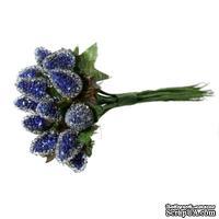 Ягодки темно-синие, 13х1.5см, 1 связка, 12шт.