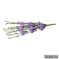 Веточки с цветочками, цвет сиреневый, 20 см, 10шт.