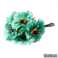 Мак, цвет мятный, 11см, диаметр цветочка 4 см, 1шт.