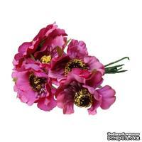 Мак, цвет фуксия, 11см, диаметр цветочка 4 см, 1шт.