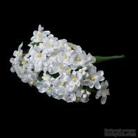 Тканевый цветочки, цвет белый, 12 см, 12 веточек, 48 цветочков