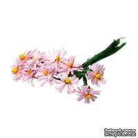 Хризантемы розового цвета, цветочек 12-13 мм, стебелек 10 см, 10шт.