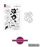 Штампы + Ножи для вырубки от Altenew - Build-A-Flower: Build-A-Flower: Anemone Coronaria, 24 штампа + 8 ножей