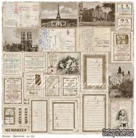 Двусторонний лист бумаги для скрапбукинга от Maja Design - Vintage Summer Basics - Memories