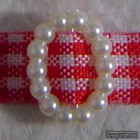 Перламутровые кремовые пряжечки/слайдеры овальной формы, 5 шт.