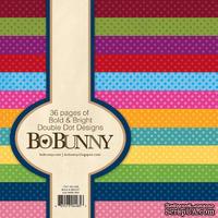 Набор бумаги BoBunny -Double Dot Bold & Bright, 15х15 см, 36 листов