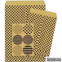 Конверты-пакетики из крафт-бумаги BoBunny - Kraft Gift Bags Dots
