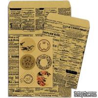 Конверты-пакетики из крафт-бумаги BoBunny - Kraft Gift Bags Newsprint