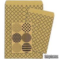 Конверты-пакетики из крафт-бумаги BoBunny - Kraft Gift Bags Quatrefoil