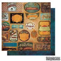 Лист двусторонней бумаги BoBunny - Weekend Market Vintage Labels, 30х30 см