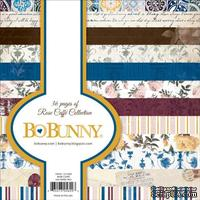 Набор двусторонней бумаги BoBunny - Rose Cafe - Pad, размер 15х15 см, 36 листов