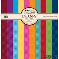 Набор кардстока BoBunny - Double Dot - Bold & Bright, 30х30 см, 20 листов
