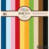 Набор кардстока BoBunny - Double Dot - Stripes, 30х30 см, 20 листов
