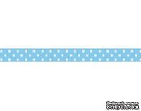 Лента в горошек BoBunny - Brilliant Blue Double Dot, ширина 1 см, длина 90 см