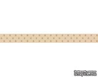 Лента в горошек BoBunny - Decaf Double Dot, ширина 1 см, длина 90 см