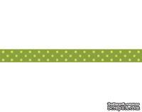 Лента в горошек BoBunny - Kiwi Double Dot, ширина 1 см, длина 90 см