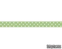Лента в горошек BoBunny - Mint Green Double Dot, ширина 1 см, длина 90 см